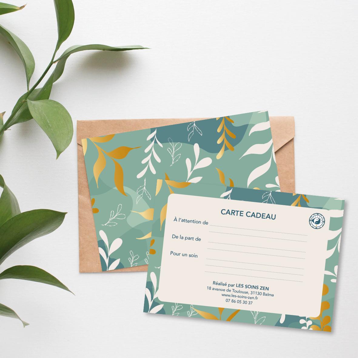 Carte cadeau Les Soins Zen